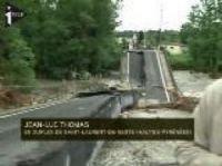The bridge at Saint-Laurent-de-Neste was smashed by the floods – Screengrab iTele