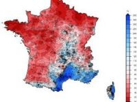 Meteo France map showing dry areas