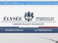 URL field of Elysee site says Sarko