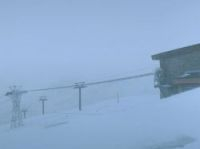 Val d'Isere webcam shows whiteout conditions