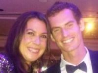 Marion Bartoli tweeted picture of her and fellow champion Andy Murray