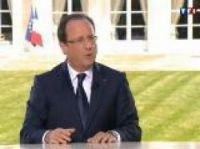 President Hollande at the Elysee - Screengrab: TF1