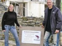 John Carden and Bobbi Black are builders in Brittany