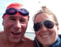 Record-breaking Channel swimmer Cyril Baldock with daughter Corinna
