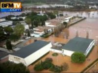 Var floods start to ease - Screengrab: BFMTV