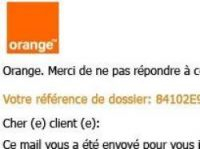 Phishing email seemed to come from Orange