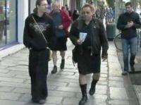 Screenshot from France 3: HEJ members in Rennes
