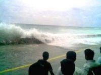 Tsunami swamped coastlines