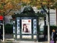 Iconic Paris news kiosk