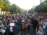 Thousands march in Paris in protest over deadly Israeli assault on Gaza