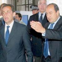President Sarkozy and spy agency chief Bernard Squarcini