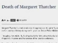 Thatcher tribute on Elysee website