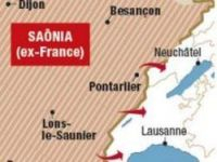 A Swiss Army map sees an invasion from France – Screengrab: Le Matin