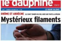 Reports of strange string filaments in the Drôme and Ardèche