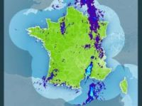 Meteo France radar map shows thunderstorm's extent