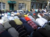 Street prayers are common in the GOutte d'Or area of Paris