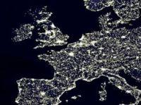 Europe at night shows few really dark places - Photo: Nasa