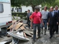 Hollande visits flood-damaged areas in Haute-Garonne - Photo: Presidence de la Republique
