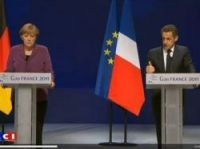 Sarkozy and Merkel announce the decisions taken