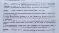 The bylaw banning the wearing of religious symbols at the beach at Wissous, Essonne