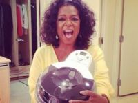 Oprah Winfrey with her life-changing T-Fal Actifry