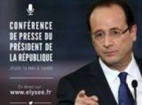 President Hollande will face press conference questions - Photo: Presidence de la Republique