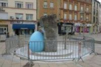 Paint-job fountain at centre of row will be restored... and moved