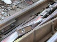 SNCF published pictures showing the fishplate jammed in the points