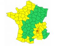 Today's weather alert map - Graphic: Meteo-France