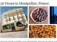 NYT highlights the tram and market in Montpellier - Graphic - screengrab from New York Times