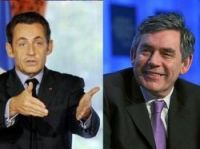 Brown and Sarkozy unite on finance