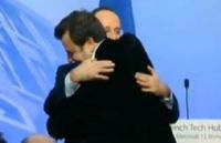 President Hollande embraces Carlos Diaz