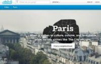 The Paris section of the Airbnb website
