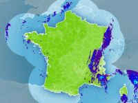 Radar weather map from Météo France