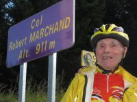 Robert Marchand at his col - Photo: l'Ardechoise