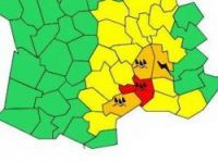Four departments on orange alert and many on yellow