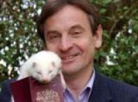 MEP Chris Davies – with ferret