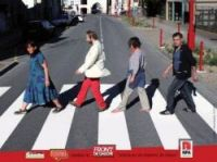 Left-wing candidates in Villeneuve-sur-Lot copied the Beatles on their election poster