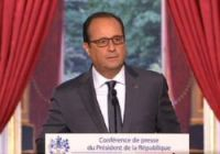 Mr Hollande spoke on matters from tax and work rules to Syria