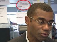 Television interview in TV5Monde office after cyber-attack shows login details