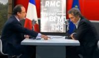 President François Hollande during an interview on BFMTV this morning