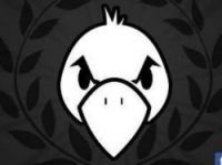 The Pigeons based their logo on that of Anonymous