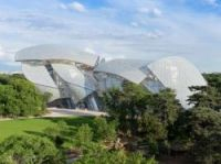 From one end the Fondation Louis Vuitton building looks like a ship in full sail