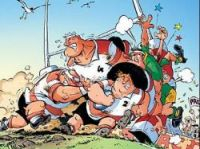 Amateur rugby season starts - Cartoon - Rugbymen – Tome 7 by Poupard and Beka