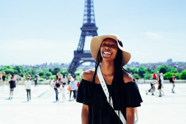 American tourists in Paris