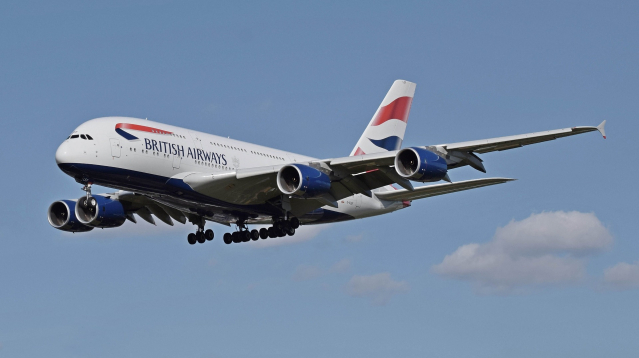 A British Airways airbus in flight