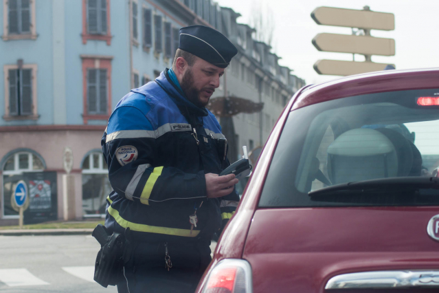 Breath test in France