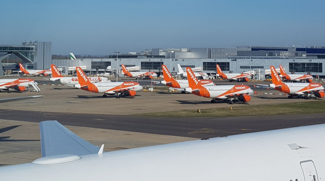easyjet planes on the ground due to coronavirus pandemic
