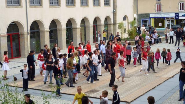 people gathered on open-air dancefloor