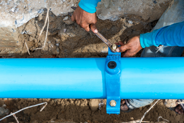 Mains drainage in France
